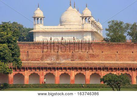 Moti Masjid (pearl Mosque) In Agra Fort, Uttar Pradesh, India