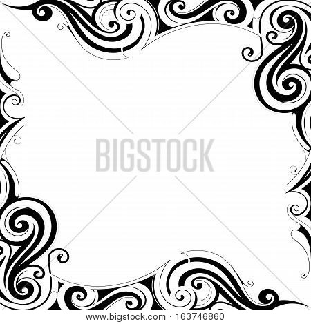 Decorative frame design in classical Art Nouveau style