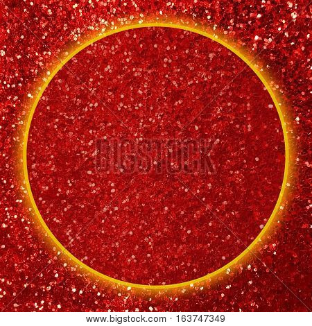 Shiny red glitter texture background with copy space