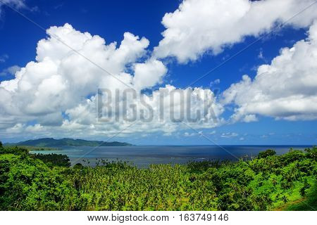 View Of Bouma National Heritage Park And Somosomo Strait On Taveuni Island, Fiji