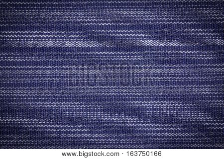 Blue fabric texture pattern or fabric background for design with copy space for text or image.