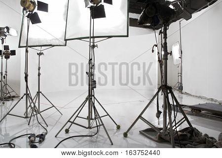 detail image of Studio lighting equipment background