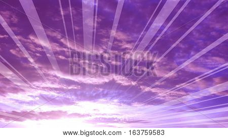 Silhouette sunrise sky pink with magenta and cloud Photography has graphic reflex radius line made to your presentation background.
