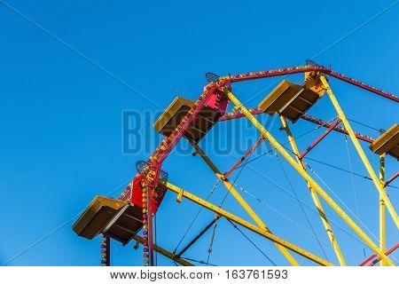 Ferris wheel in a Christmas fair Winter Wonderland