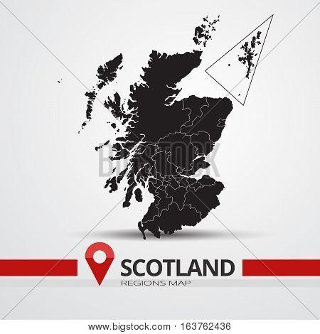 Scotland map vector silhouette. Scotland ouline map