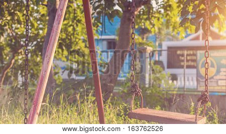 swing playground Vintage  outdoor, children, nobody, fun, park,
