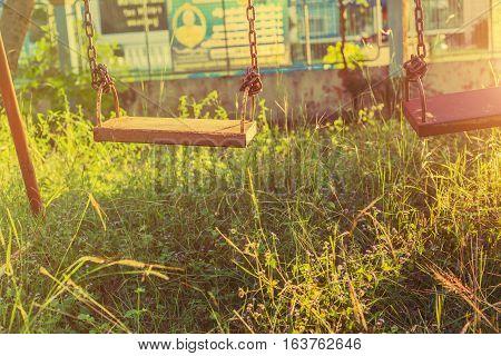 swingplayground Vintage outdoor, children, nobody, fun, park,