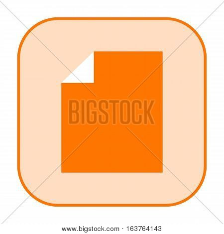 Document orange icon isolated on white background