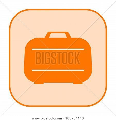Case orange icon isolated on white background