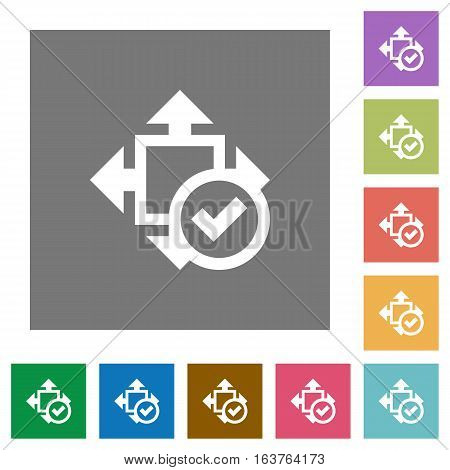 Accept size flat icons on simple color square backgrounds