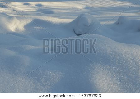 Snowdrift Background For Design