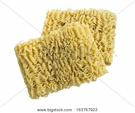 Instant Noodles Or Ramen Isolated On White Background.