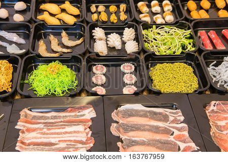 Set of Shabu shabu style for hotpot