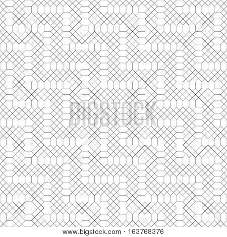 Seamless pattern. Abstract geometrical background. Original linear texture with repeating thin broken lines polygons difficult polygonal shapes. Vector element of graphical design