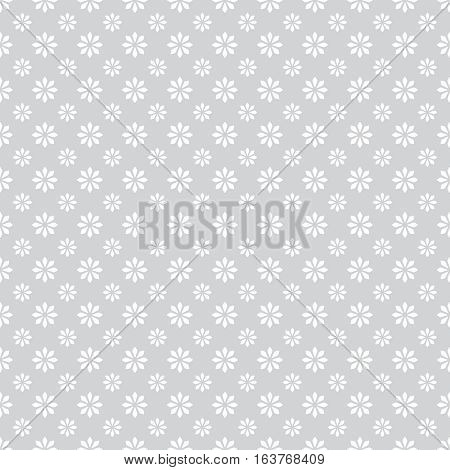 Seamless pattern. Abstract wrapping paper surface. Simple stylish texture with regularly repeating geometrical shapes minimal flowers. Vector element of graphical design