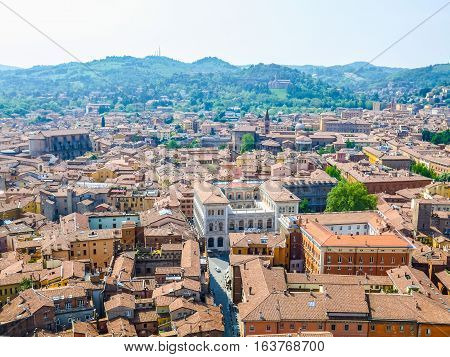 Hdr Aerial View Of Bologna