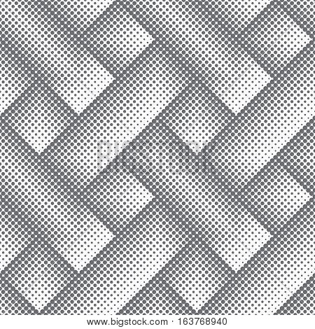 Vector seamless pattern. Abstract small dotted textured background. Modern original texture. Regularly repeating geometrical tiles with dots dotted rhombuses diamonds. Contemporary design.