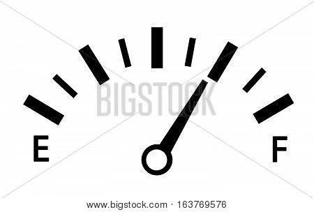 speedometer. abstract symbol of speed vector illustration