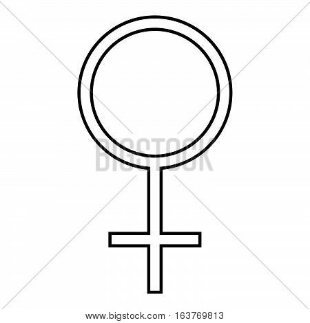 Female symbol icon - glyph style - black outline style
