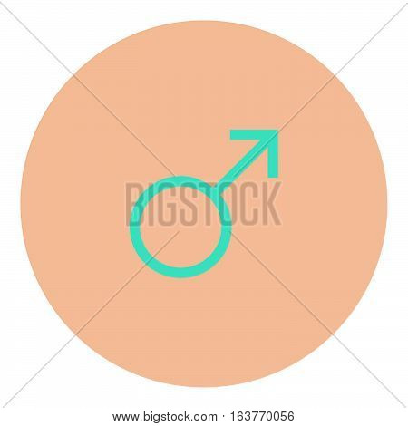 Male symbol icon - Rounded glyph style - pink and blue