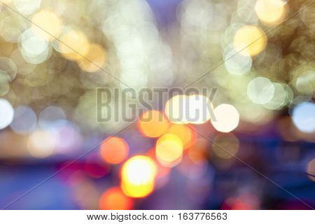 Abstract Defocused Colourful Blurred Background with Bokeh.