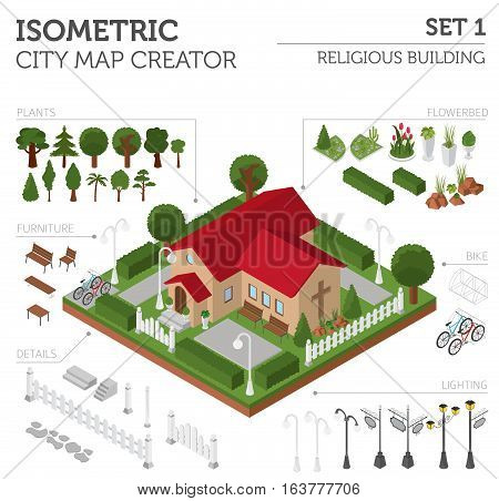 Isometric City Map Elements_4
