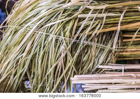 Hemp Fiber are prepared to make products Hemp fiber background.