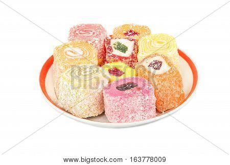 Turkish Delight Lokum In A Plate