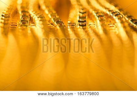 Abstract Gold Background Blurred De Focused Golden Chain Yellow Metal Chains Shallow Depth of Field