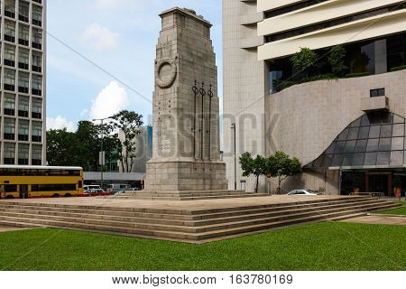 The Cenotaph, Hong Kong Island, memorial to British Empire  soldiers of World War One and Two