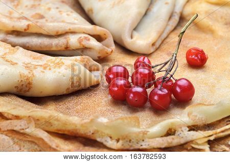 Tasty Pancakes With Fresh Berries