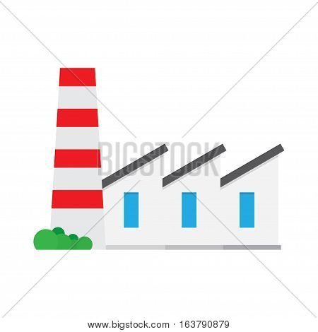 Factory producing oil and gas Industry building icon. vector illustrator