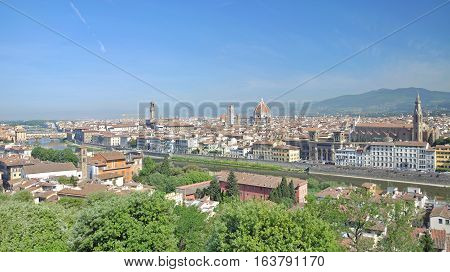 View from famous Piazzale Michelangelo to Florence,Tuscany,Italy