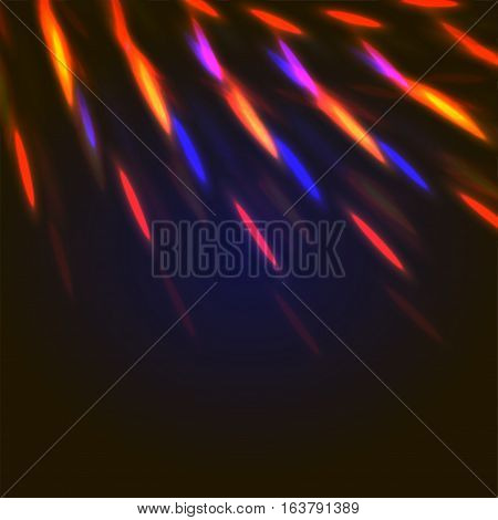 Orange And Blue Lights Abstract Background
