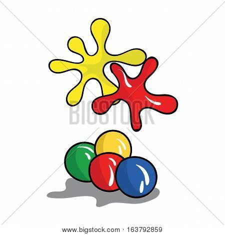 Balls for paintball icon in cartoon design isolated on white background. Paintball symbol stock vector illustration.