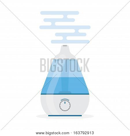 humidifier for room. Flat vector Ultrasonic humidifier. Air purifier.