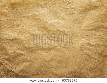 Old Wrinkled Paper Background Papers Folds Wrinkles Texture Brown Weathered Parchment