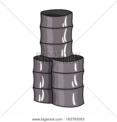 Barricade from barrels icon in cartoon design isolated on white background. Paintball symbol stock vector illustration.