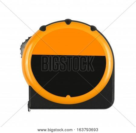 orange measuring tape tool and blank logo or brand for measure work isolated on white included clipping path
