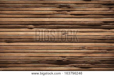 Wood Planks Background Brown Wooden Texture Bamboo Plank Rough Textured Wall