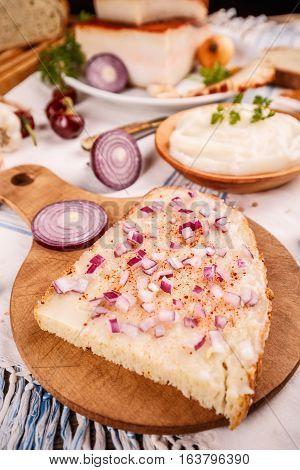 Bread Slice With Lard