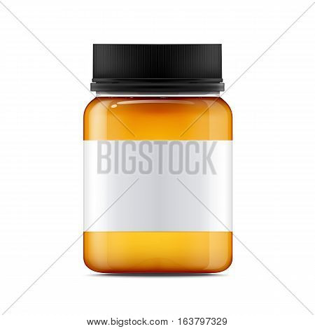 realistic glass jar vector photo free trial bigstock