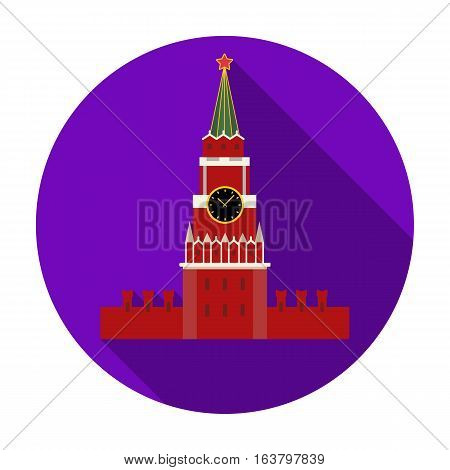 Kremlin icon in flat design isolated on white background. Russian country symbol stock vector illustration.