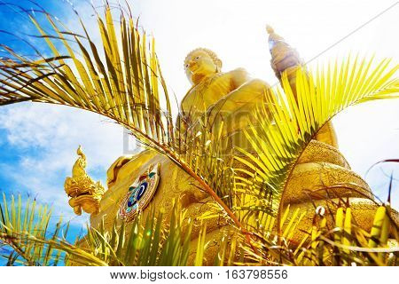 Big Buddha in phuket island.Temple and monastery in Thailand.Exotic travels and adventures .Thailand trip.Buddha and landmarks