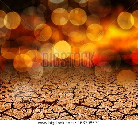 Abstract dry cracked soil background.Natural disaster and climate change