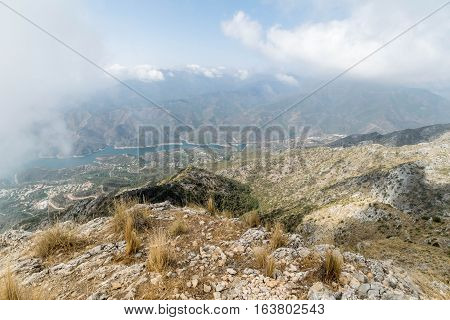 a view whilst hiking in the mountains in Marbella