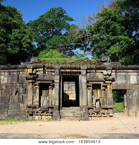 Polonnaruwa ruin was the second capital of Sri Lanka after the destruction of Polonnaruwa. The photograph is presenting Royal Palace Ruins. Sri Lanka