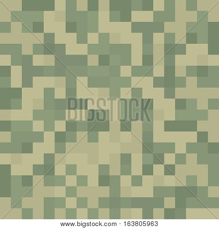 Pixel like camouflage texture pattern tile background