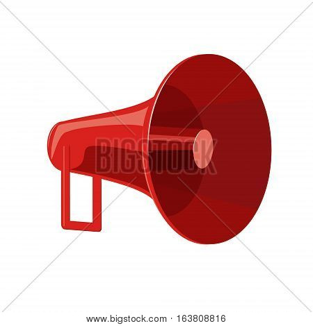 Speaker red. Bright gramophone isolated on white background vector