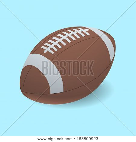 Football isolated on a white background as a professional sport ball for traditional American and Canadian game play on background.